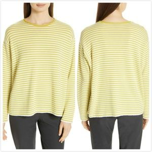 NEW Eileen Fisher Striped Merino Wool Sweater